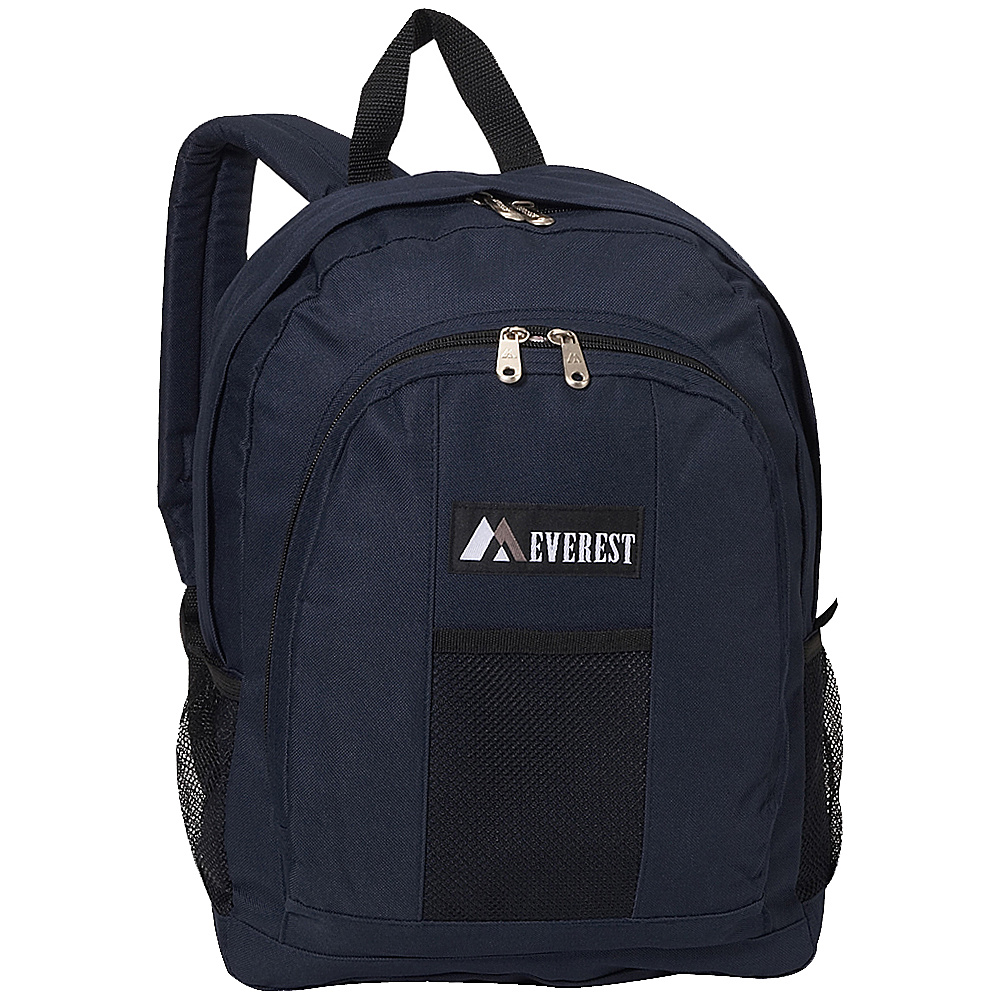 Everest Backpack with Front & Side Pockets - Navy - Backpacks, Everyday Backpacks