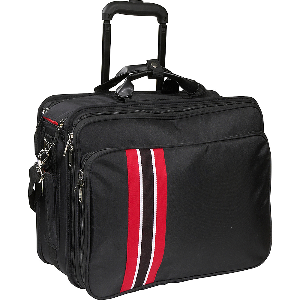 Women In Business Laptop Roller Case - Black/red Trim