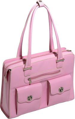 McKlein USA Verona - Ladies' Fly-Through Checkpoint-Friendly Laptop Briefcase Pink - McKlein USA Ladies' Business