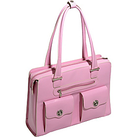 Verona - Ladies' Fly-Through Checkpoint-Friendly Laptop Briefcase Pink