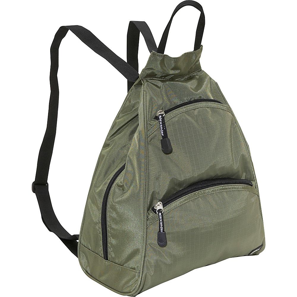 Derek Alexander Small Tear Drop Bike Pack Khaki/Black - Derek Alexander Manmade Handbags - Handbags, Manmade Handbags