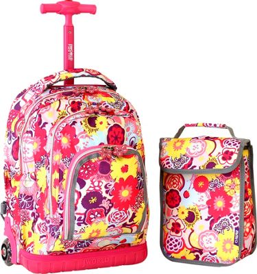 ... New York Lollipop Kids Rolling Backpack with Wheeled Backpack NEW
