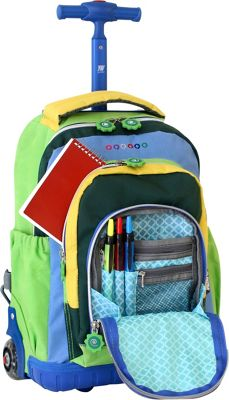A wheeled backpack is on average 2 to 3 pounds heavier than a regular backpack; be sure to look at the size of your child carefully before purchasing. It should not be too heavy for the child to pull.