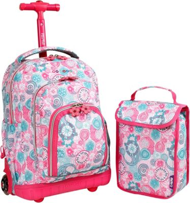 J World New York Lollipop Kids Rolling Backpack with Lunch Bag