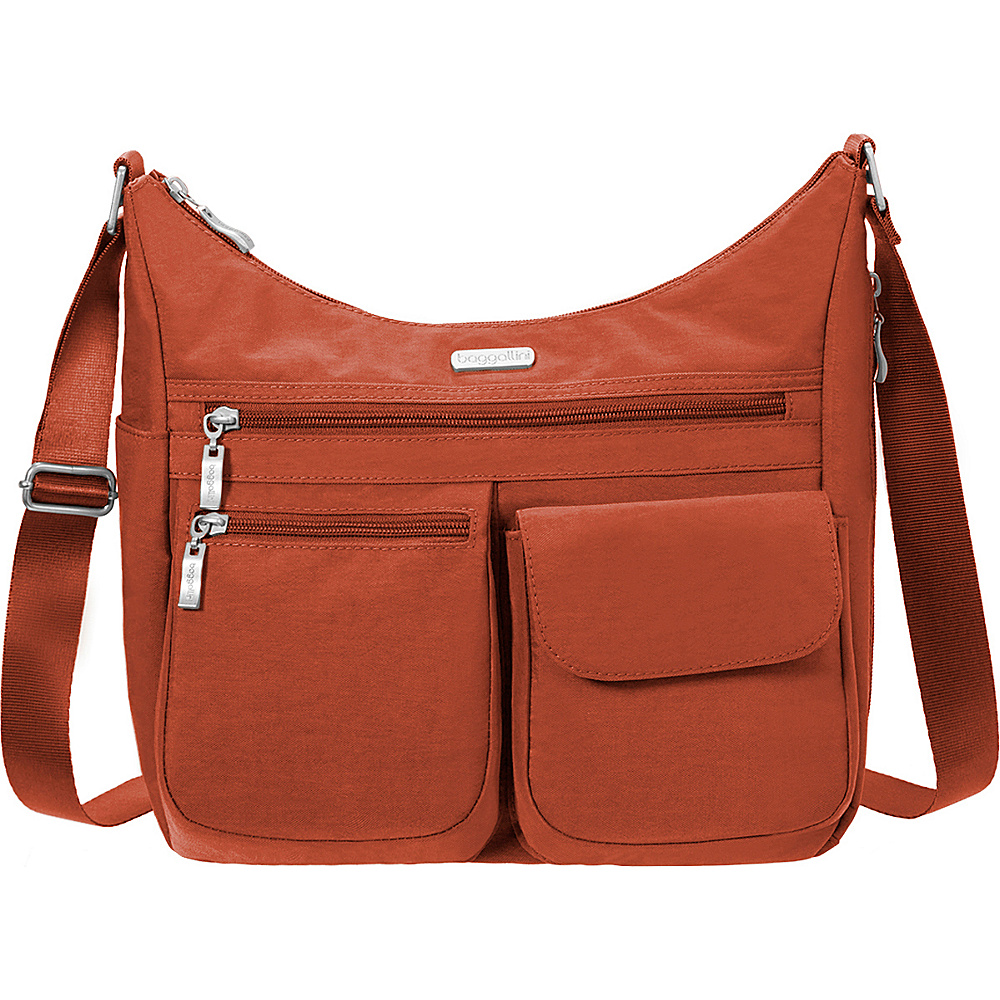 baggallini Everywhere Shoulder Bag with RFID Adobe - baggallini Fabric Handbags - Handbags, Fabric Handbags