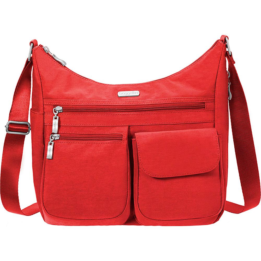 baggallini Everywhere Shoulder Bag with RFID Hibiscus - baggallini Fabric Handbags - Handbags, Fabric Handbags