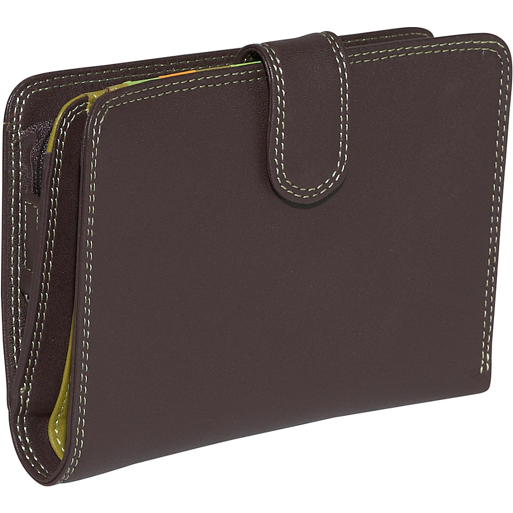 BelArno Large Vertical Bifold Multi Color Wallet in