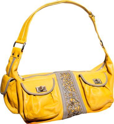 Free Endearment Courtnee Mustard/Gray - Free Endearment Leather Handbags