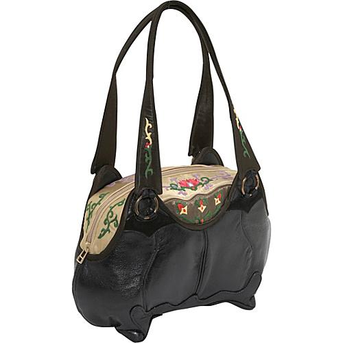 JL Lane Sidney Black and Bronze - JL Lane Leather Handbags