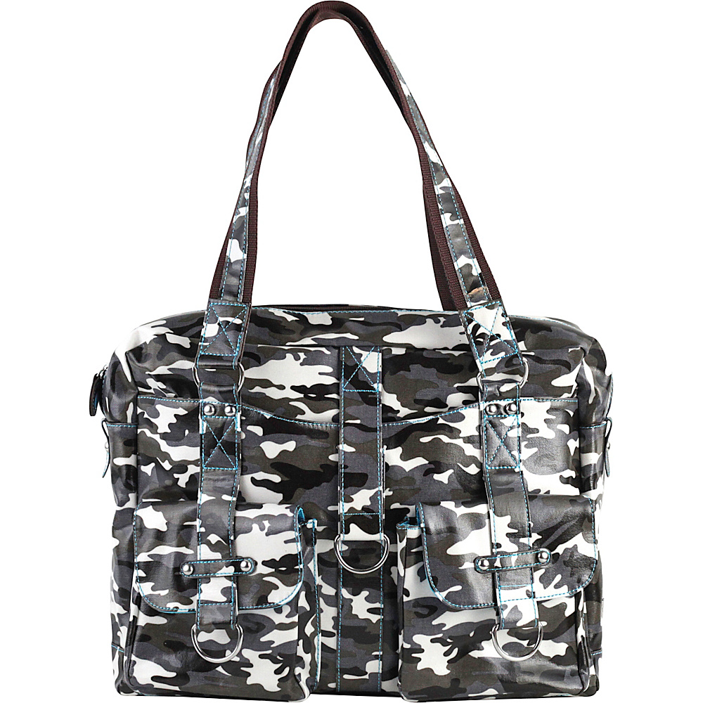 Urban Junket Robin Laptop Bag Grey Camouflage Urban Junket Women s Business Bags