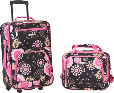 Rockland Luggage Rio 2 Piece Carry On Luggage Set Pucci - Rockland Luggage Luggage Sets