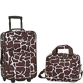 Rio 2 Piece Carry On Luggage Set Giraffe