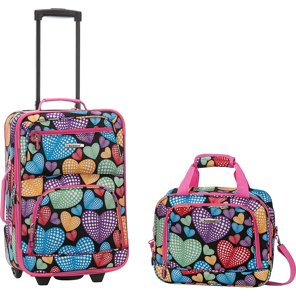 Rockland Luggage Rio 2 Piece Carry On Luggage Set Newheart - Rockland Luggage Luggage Sets