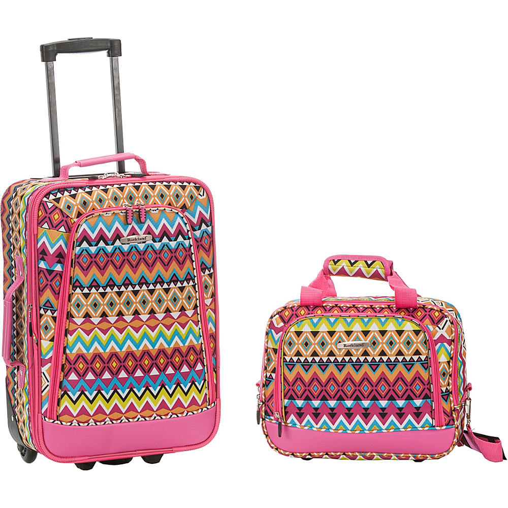 Rockland Luggage Rio 2 Piece Carry On Luggage Set Tribal Rockland Luggage Luggage Sets
