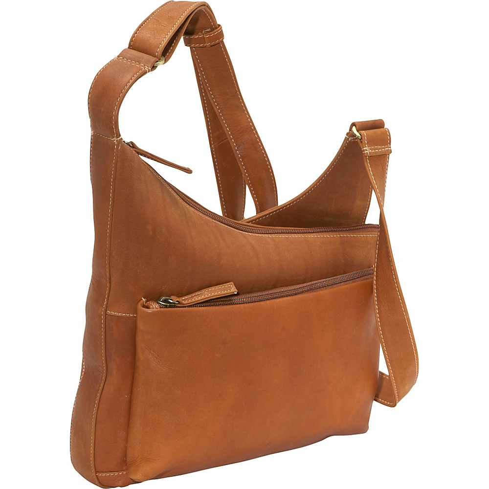 Derek Alexander Angle top zip - Tan - Handbags, Leather Handbags