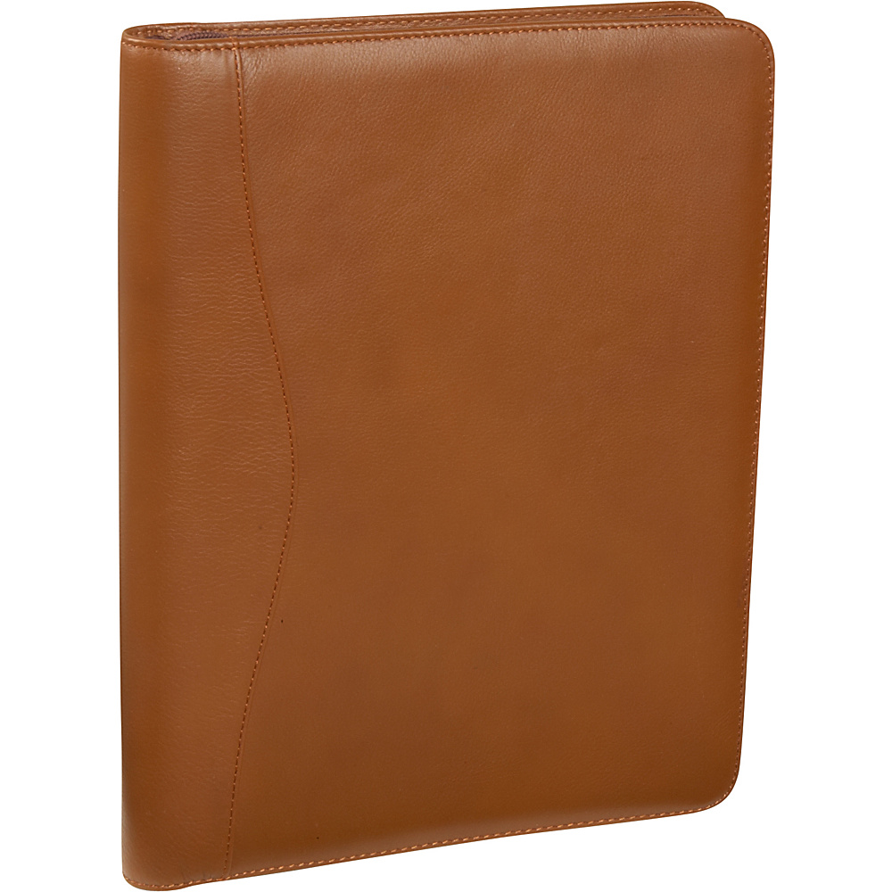 Bellino Zip Around Padfolio - Tan - Work Bags & Briefcases, Business Accessories