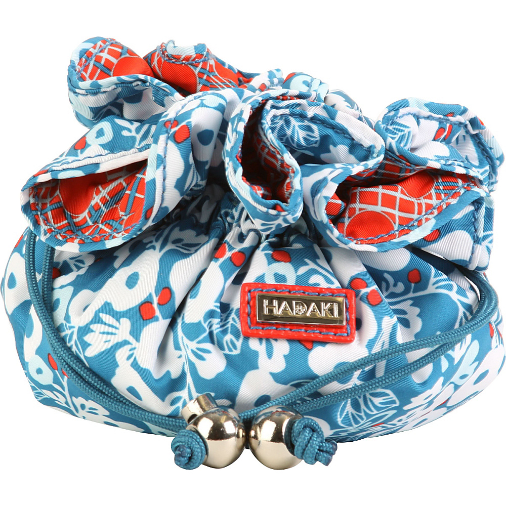 Hadaki Cotton Jewelry Sack Berry Blossom Teal - Hadaki Travel Organizers - Travel Accessories, Travel Organizers