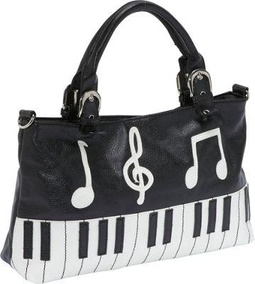 Ashley M Piano Keyboard Handbag - Shoulder Bag