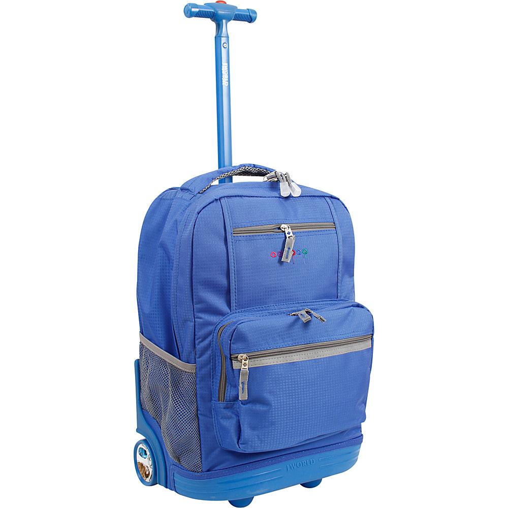 J World New York Sunset Rolling Backpack Blue - J World New York Rolling Backpacks - Backpacks, Rolling Backpacks
