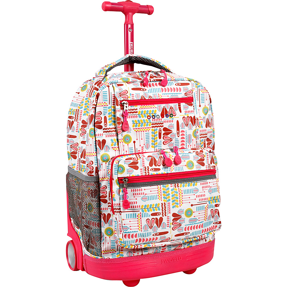 J World New York Sunset Rolling Backpack Heart Factory - J World New York Rolling Backpacks - Backpacks, Rolling Backpacks
