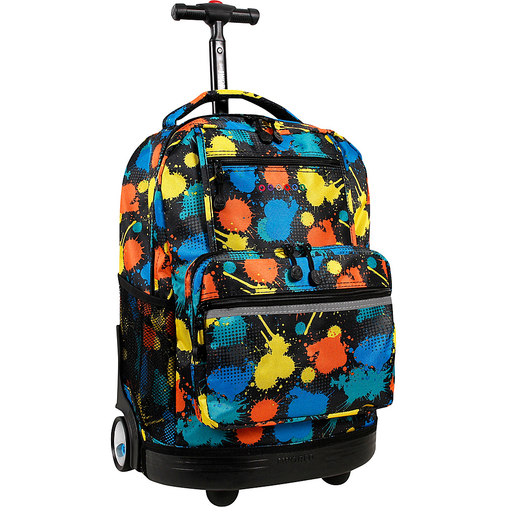 J World New York Sunset Rolling Backpack Splatter - J World New York Rolling Backpacks - Backpacks, Rolling Backpacks