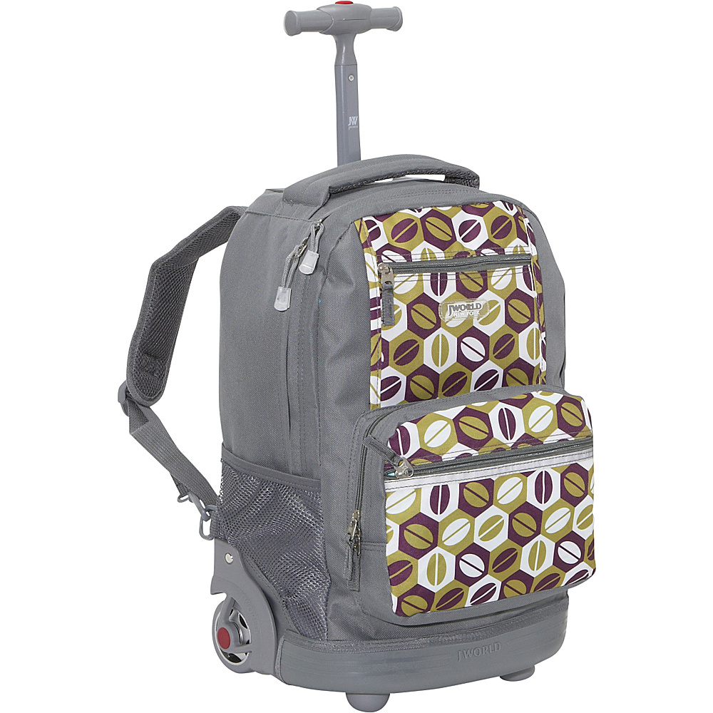 j world new york sunset rolling backpack 12 colors ebay. Black Bedroom Furniture Sets. Home Design Ideas