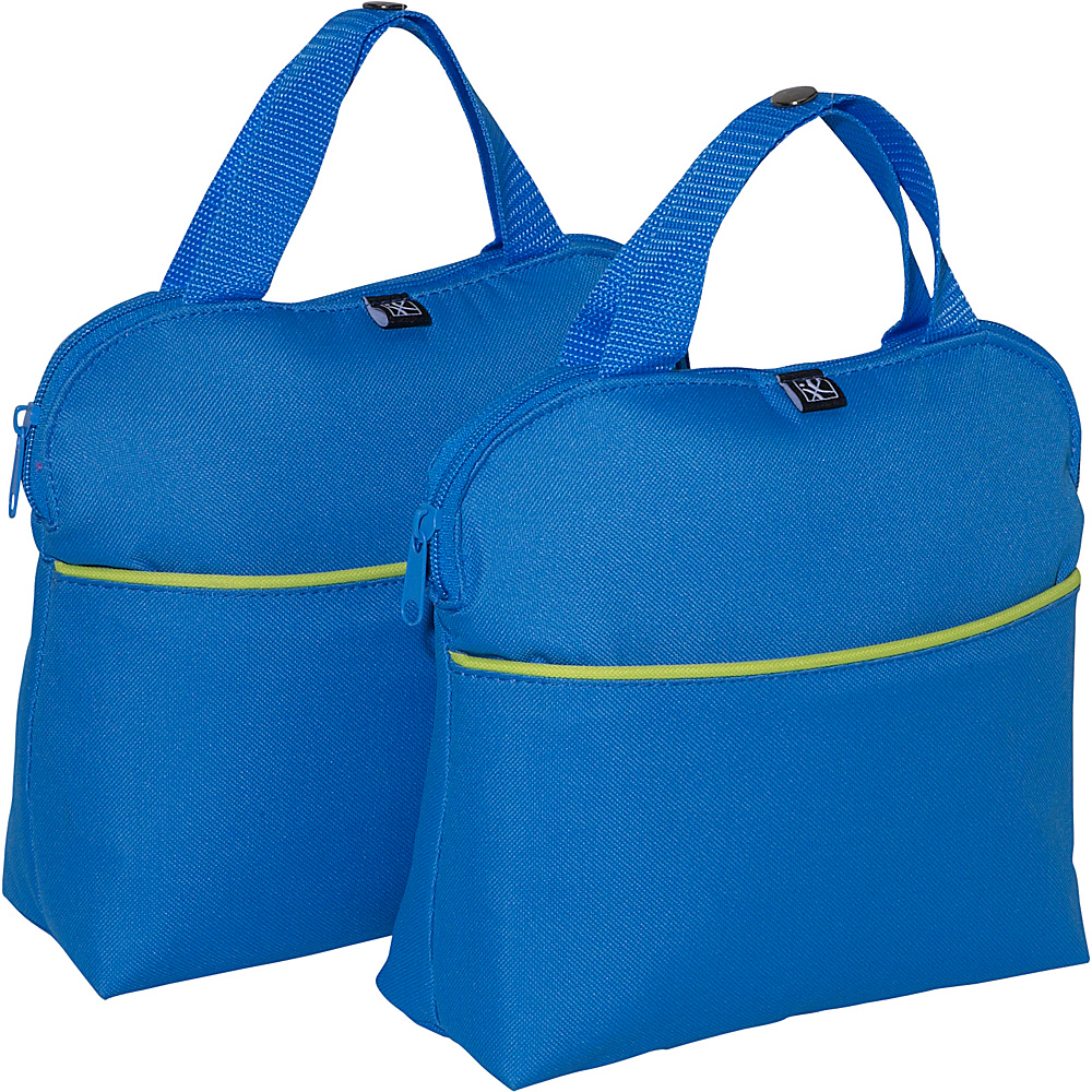J.L. Childress MaxiCOOL 4-Bottle Insulated Tote - Set of 2 Blue/Green - J.L. Childress Outdoor Accessories