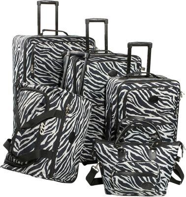 American Flyer Animal Print 5-Piece Luggage Set - Zebra