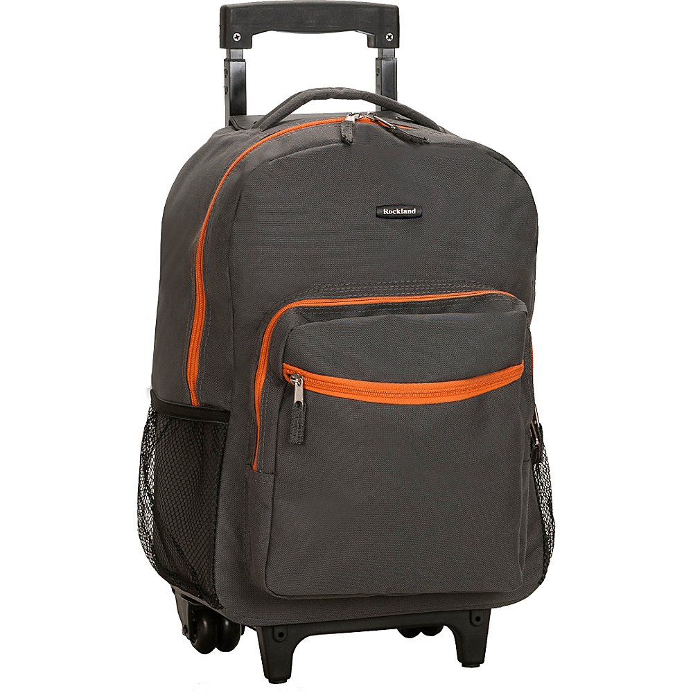 Rockland Luggage Roadster 17 Rolling Backpack Charcoal Rockland Luggage Rolling Backpacks
