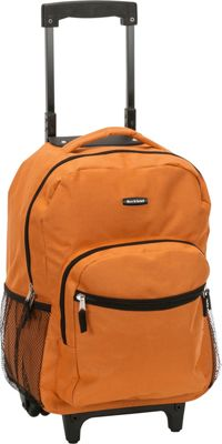 "Rockland Luggage Roadster 17"" Rolling Backpack 19 Colors 