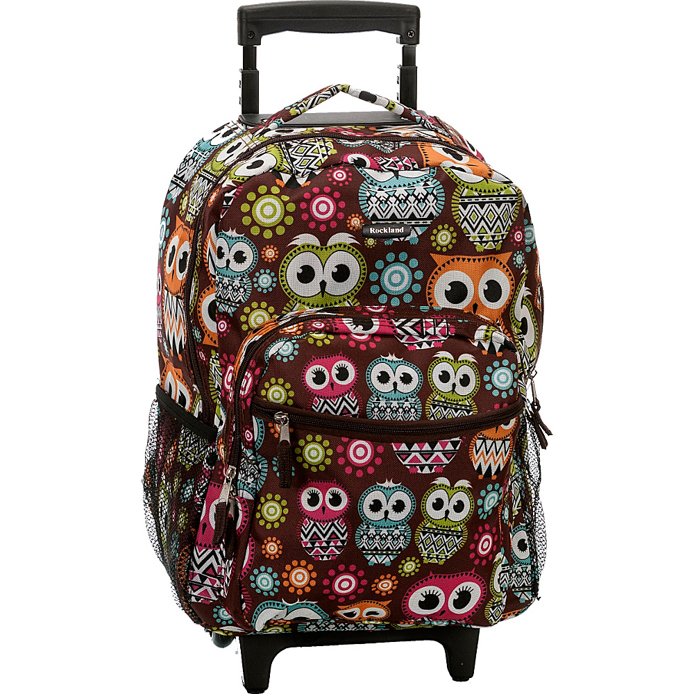 """Rockland Luggage Roadster 17"""" Rolling Backpack OWL - Rockland Luggage Rolling Backpacks"""