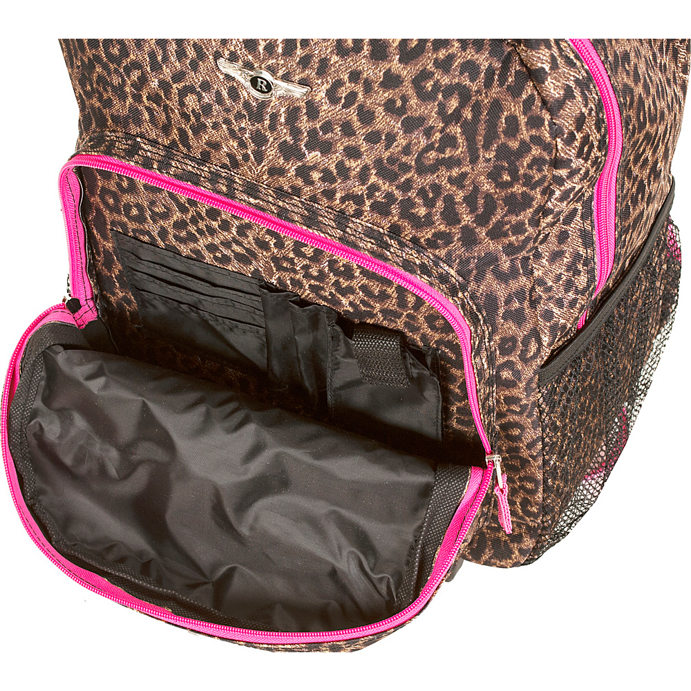 """Rockland Luggage Roadster 17"""" Rolling Backpack Peace - Rockland Luggage Rolling Backpacks"""