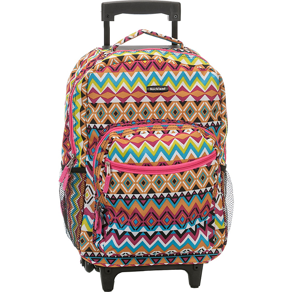 Rockland Luggage Roadster 17 Rolling Backpack Tribal Rockland Luggage Rolling Backpacks
