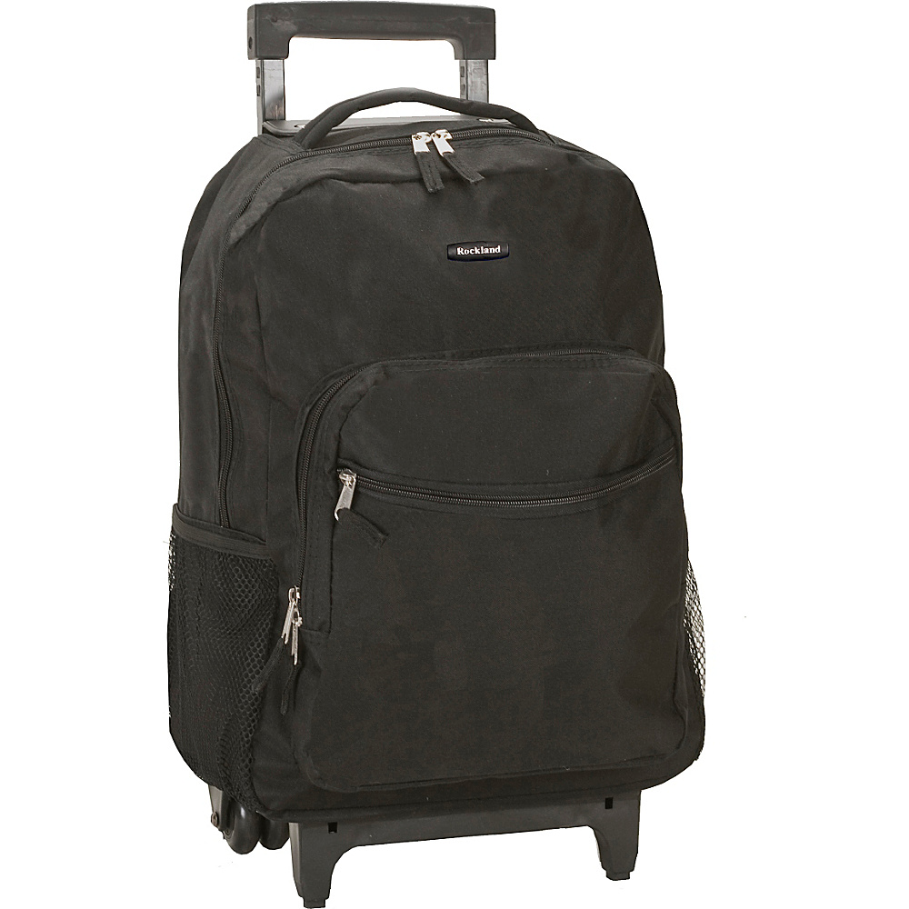 """Rockland Luggage Roadster 17"""" Rolling Backpack Black - Rockland Luggage Rolling Backpacks"""