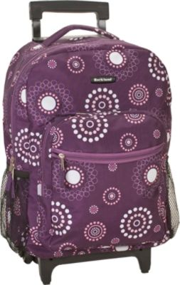 Purple Rolling Backpack WDf3qUNw