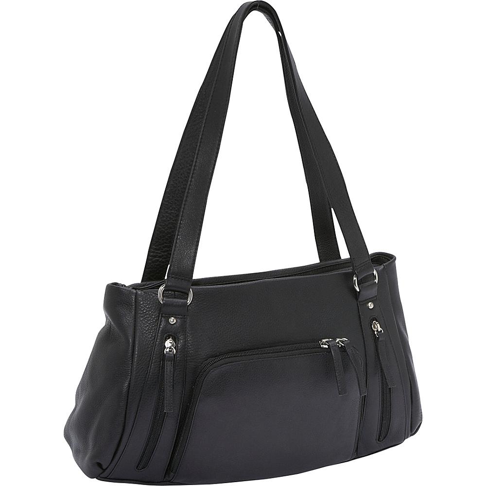 Derek Alexander EW Top Zip/Tab - Black - Handbags, Leather Handbags