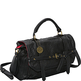 Washed Percy Top Handle Messenger Black