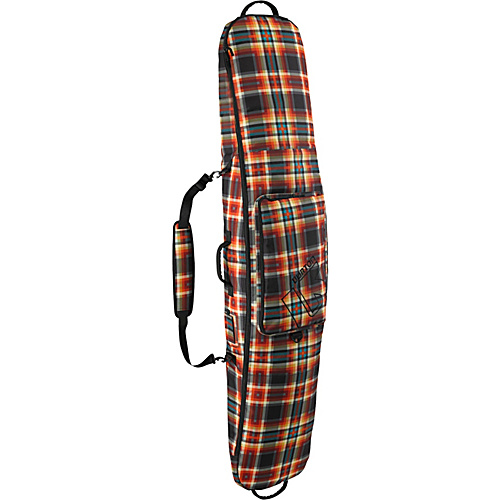 Burton Gig Bag 166 Majestic Black Plaid - Burton Ski and Snowboard Bags