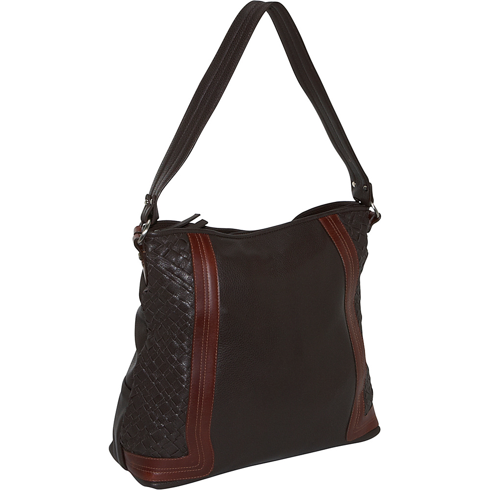 Derek Alexander Large Shoulder Bag - Brown/Brandy - Handbags, Leather Handbags