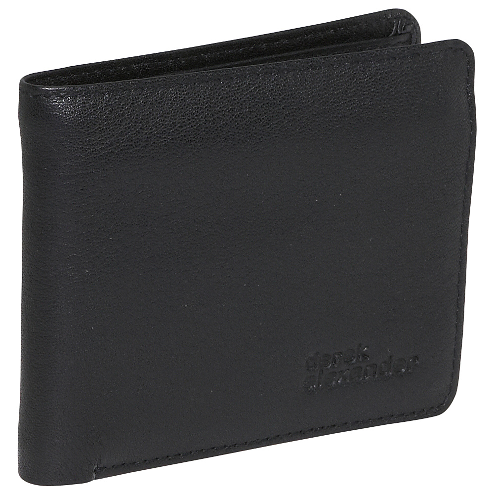 Derek Alexander Credit Card Billfold With Wing - Black - Work Bags & Briefcases, Men's Wallets