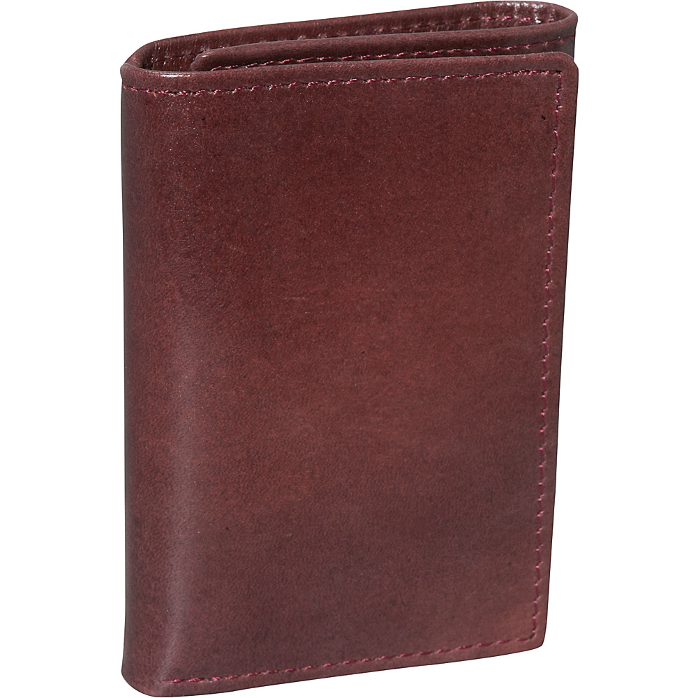 Dopp Verona Three Fold Wallet - Burgundy - Work Bags & Briefcases, Men's Wallets