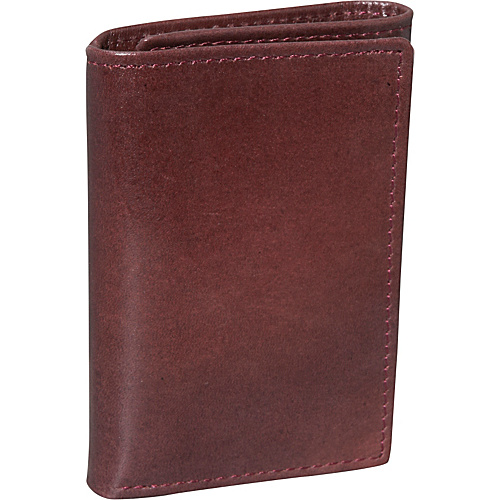 Dopp Verona Three Fold Wallet - Burgundy