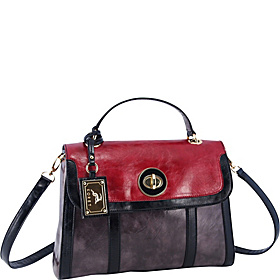 Top Handle Satchel Pewter