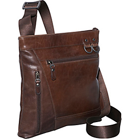 Rustic Zip-Pocket Shoulder Bag Rustic