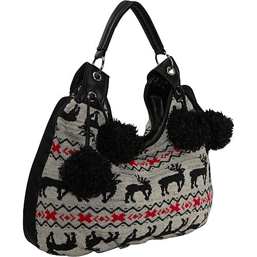 Ashley M Sweater Knit Hobo Bag - Shoulder Bag