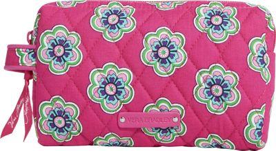 Vera Bradley Small Cosmetic Pink Swirls Flowers - Vera Bradley Ladies Cosmetic Bags
