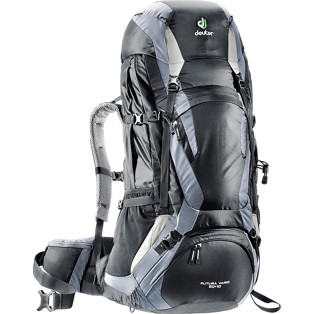 Deuter Futura Vario 50 10 Hiking Backpack Black Titan Deuter Day Hiking Backpacks