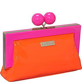 Hopper House Little Shyla Frame Clutch Hot Orange