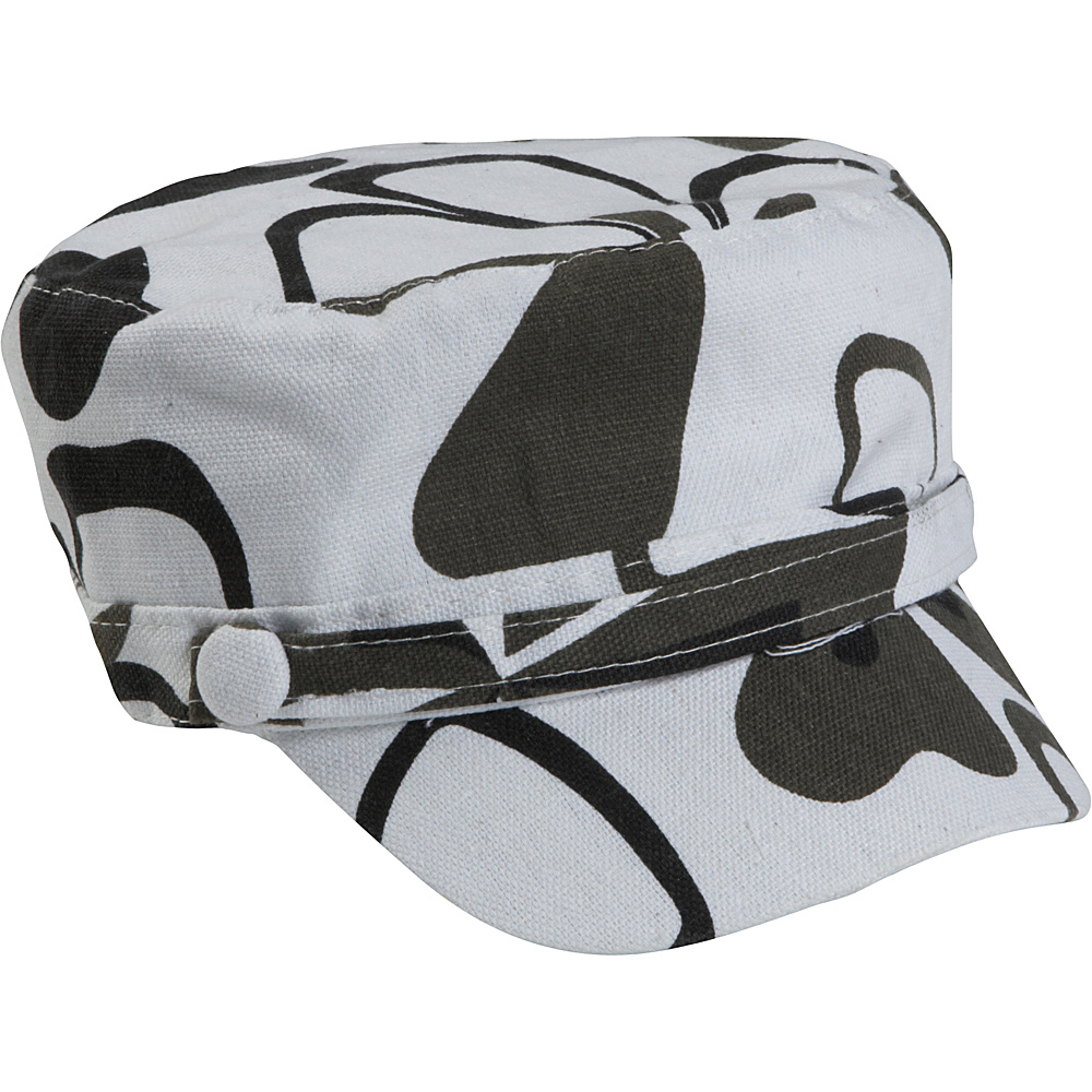 Magid Flower Page Cap Black White
