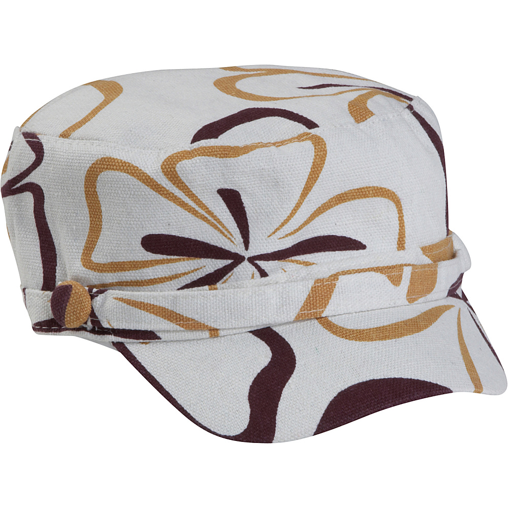 Magid Flower Page Cap - Camel/White - Fashion Accessories, Hats/Gloves/Scarves